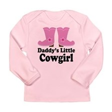 Daddy's Cowgirl Gift Long Sleeve Infant T-Shirt