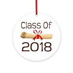 2018 School Class Diploma Ornament (Round)