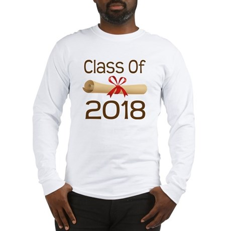 2018 School Class Diploma Long Sleeve T-Shirt