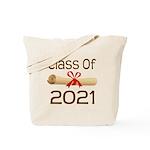 2021 School Class Diploma Tote Bag