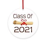 2021 School Class Diploma Ornament (Round)