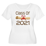 2021 School Class Diploma Women's Plus Size Scoop
