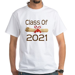 2021 School Class Diploma White T-Shirt
