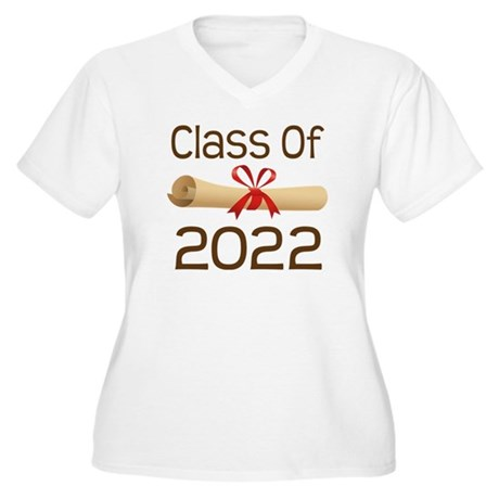 2022 School Class Diploma Women's Plus Size V-Neck