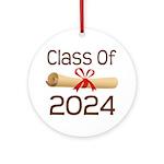 2024 School Class Diploma Ornament (Round)