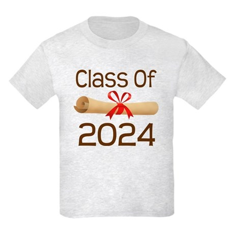 2024 School Class Diploma Kids Light T-Shirt