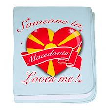 Macedonia flag Design baby blanket