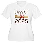 2025 School Class Diploma Women's Plus Size V-Neck