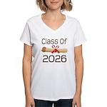 2026 School Class Diploma Women's V-Neck T-Shirt