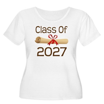 2027 School Class Diploma Women's Plus Size Scoop