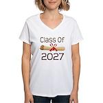 2027 School Class Diploma Women's V-Neck T-Shirt