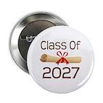 """2027 School Class Diploma 2.25"""" Button"""