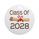2028 School Class Diploma Ornament (Round)