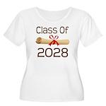 2028 School Class Diploma Women's Plus Size Scoop
