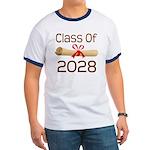 2028 School Class Diploma Ringer T