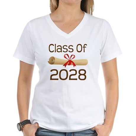 2028 School Class Diploma Women's V-Neck T-Shirt