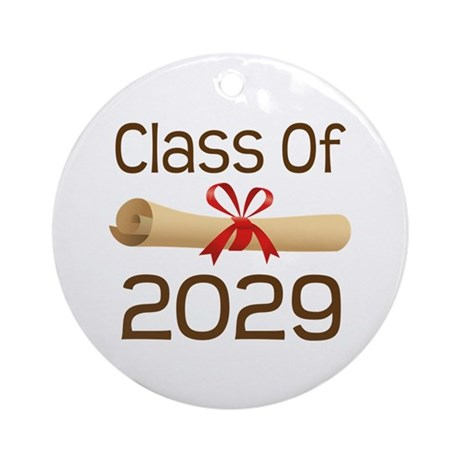 2029 School Class Diploma Ornament (Round)