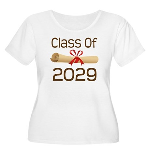 2029 School Class Diploma Women's Plus Size Scoop