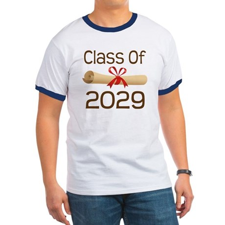 2029 School Class Diploma Ringer T
