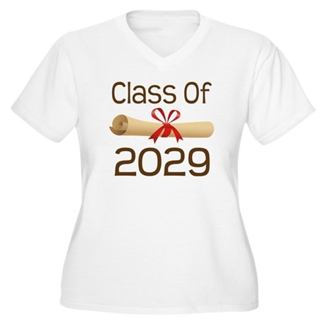 2029 School Class Diploma Women's Plus Size V-Neck