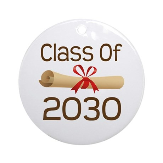 2030 School Class Diploma Ornament (Round)