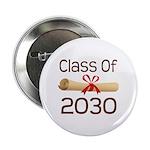 """2030 School Class Diploma 2.25"""" Button"""
