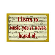 Funny Rock music Rectangle Magnet