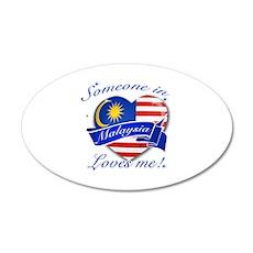 Malaysia Flag Design 38.5 x 24.5 Oval Wall Peel
