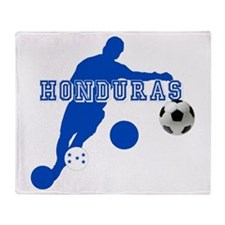 Honduras Soccer Player Throw Blanket