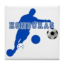 Honduras Soccer Player Tile Coaster