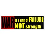 War is failure Bumper Sticker