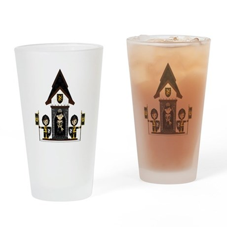 Princess and Black Knights Drinking Glass