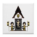 Princess and Black Knights Tile Coaster