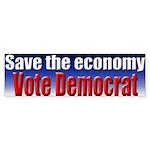 Vote Democrat for Economy Bumpersticker