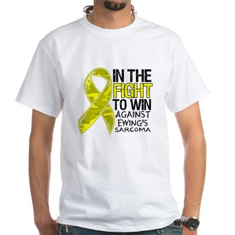 In The Fight Ewing Sarcoma White T-Shirt