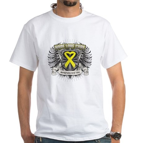 Ewing Sarcoma White T-Shirt