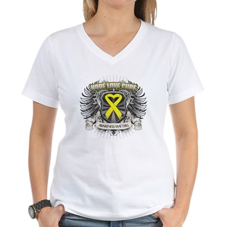 Ewing Sarcoma Women's V-Neck T-Shirt