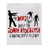 Zombie Apocalypse Waiting Throw Blanket