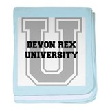 Devon Rex UNIVERSITY baby blanket