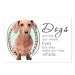 Dogs Make Lives Whole -Dachshund Postcards (Packag