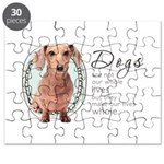Dogs Make Lives Whole -Dachshund Puzzle