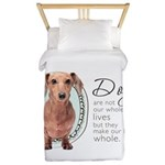 Dogs Make Lives Whole -Dachshund Twin Duvet
