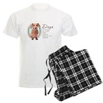 Dogs Make Lives Whole -Dachshund Men's Light Pajam