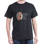 Dogs Make Lives Whole -Dachshund Dark T-Shirt