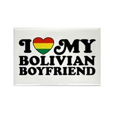 I Love My Bolivian Boyfriend Rectangle Magnet