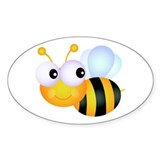 Cute Cartoon Bumble Bee Decal