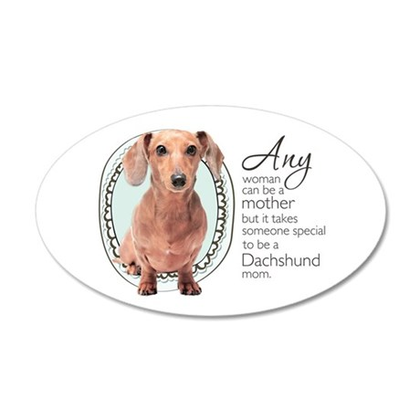 Dachshund Mom 38.5 x 24.5 Oval Wall Peel