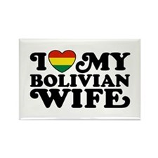 Bolivian Wife Rectangle Magnet