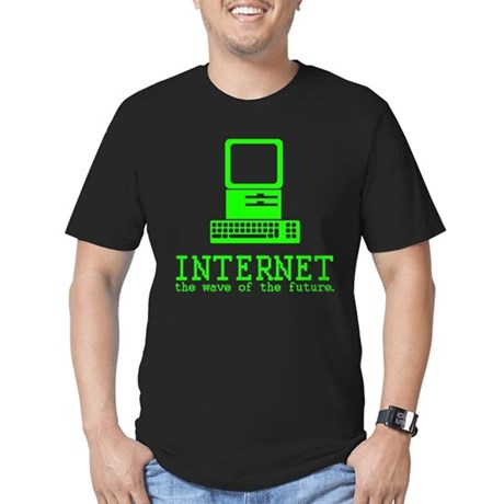 Internet Mens Fitted Dark T-Shirt