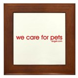 We Care For Pets Framed Tile